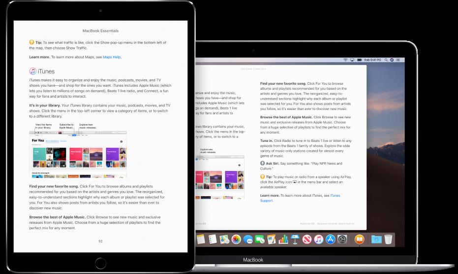 Buku pada halaman yang sama dalam app Buku pada iPad dan Mac.