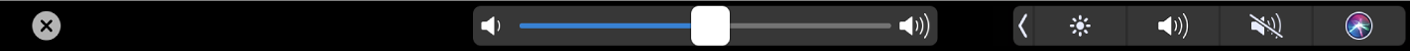 Die iMovie-TouchBar mit dem Lautstärkeregler.