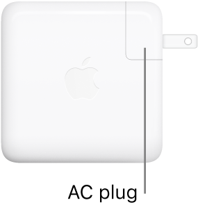 The 61W or 87W USB-C Power Adapter.