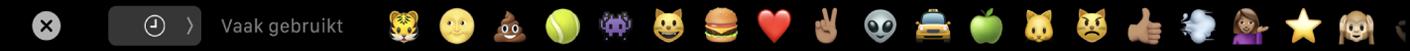 De TouchBar met de emojikiezer.