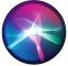 symbolen för Siri
