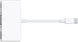 USB-C VGA-multiportadapteren.