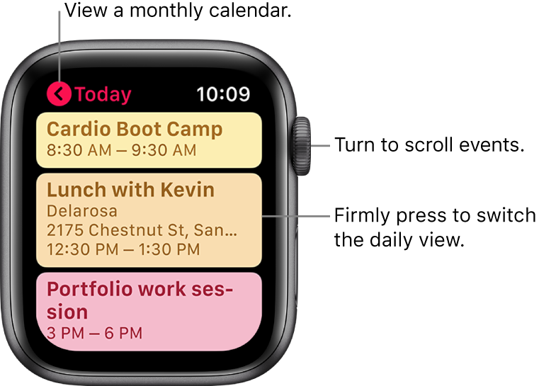 Check and update your calendar on Apple Watch - Apple Support