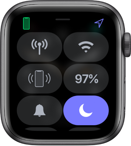 Control Center with Do Not Disturb button selected.