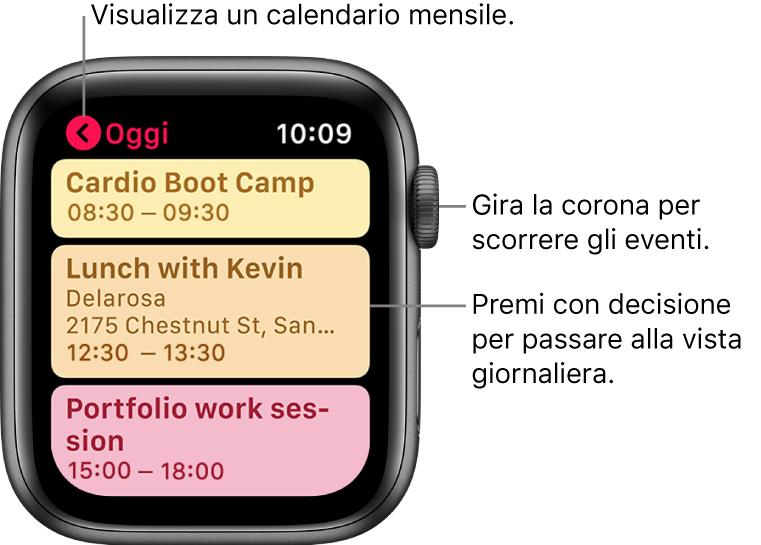 Visualizza Calendario.Controllare E Aggiornare Il Calendario Su Apple Watch