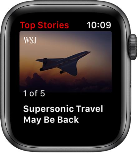 News App。記事のヘッドラインとイメージが表示されています。