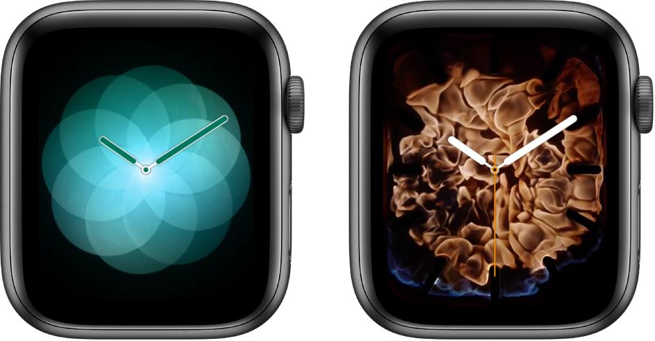 Dua muka jam—Bernafas dan Api dan Air.