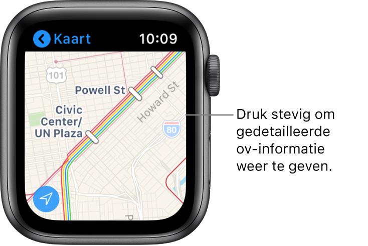 De Kaarten-app met ov-informatie, waaronder routes en stations.