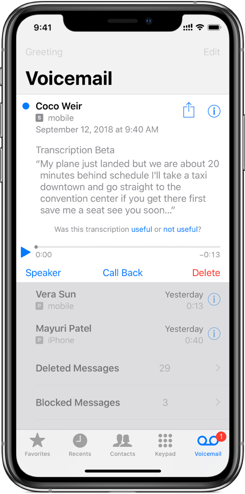 How to get voicemail transcription on iphone 5s