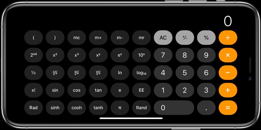 También puedes usar la calculadora científica para funciones con exponenciales, logaritmos y trigonometría.