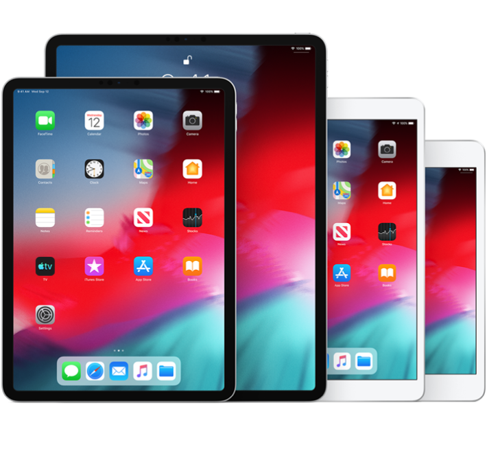 iPad Pro (10.5-inch), iPad Pro (12.9-inch) (2nd generation), iPad Air (3rd generation), and iPad mini (5th generation)