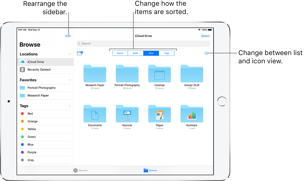 View files and folders in Files on iPad - Apple Support