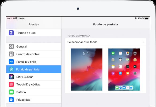 Cambiar fondo de pantalla ipad 2