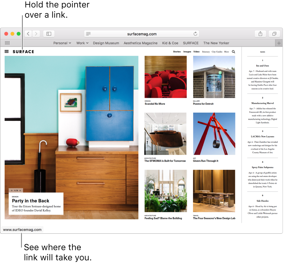 Customize the Safari browser window on Mac - Apple Support