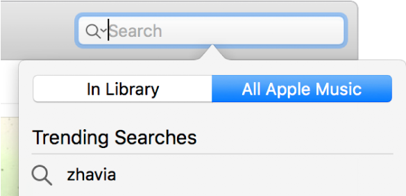 The search field for Apple Music.