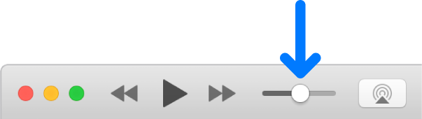 The volume slider.