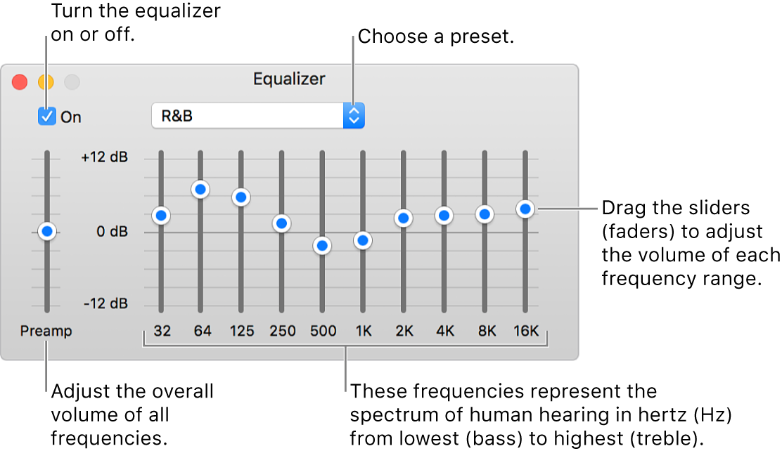 Adjust the sound quality in iTunes on Mac - Apple Support
