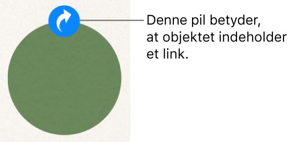En linkindikator på en figur.