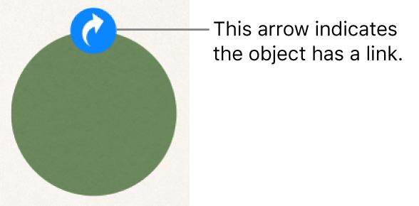 A link indicator on a shape.