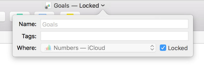 Pop-up for locking or unlocking a spreadsheet.