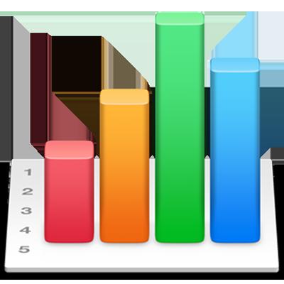 O ícone da aplicação Numbers.