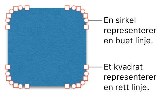 En figur med redigerbare punkter.