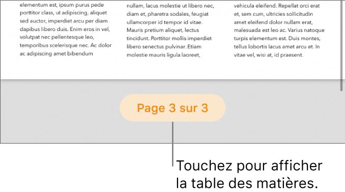 Un document ouvert avec le nombre de pages «3 sur 3» en bas au centre de l'écran.
