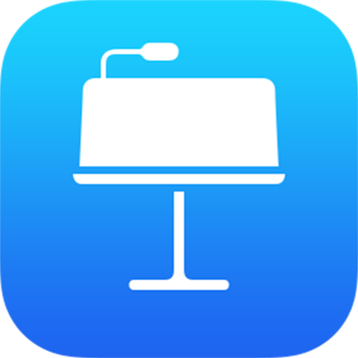 The Keynote for iCloud app icon.
