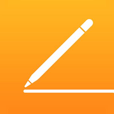 أيقونة تطبيق Pages لـiCloud.