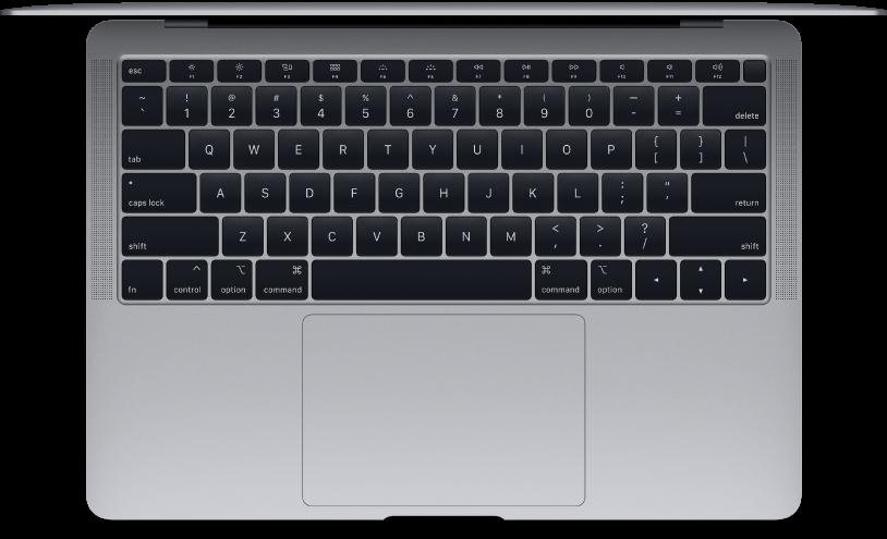 Bovenaanzicht van de MacBookAir