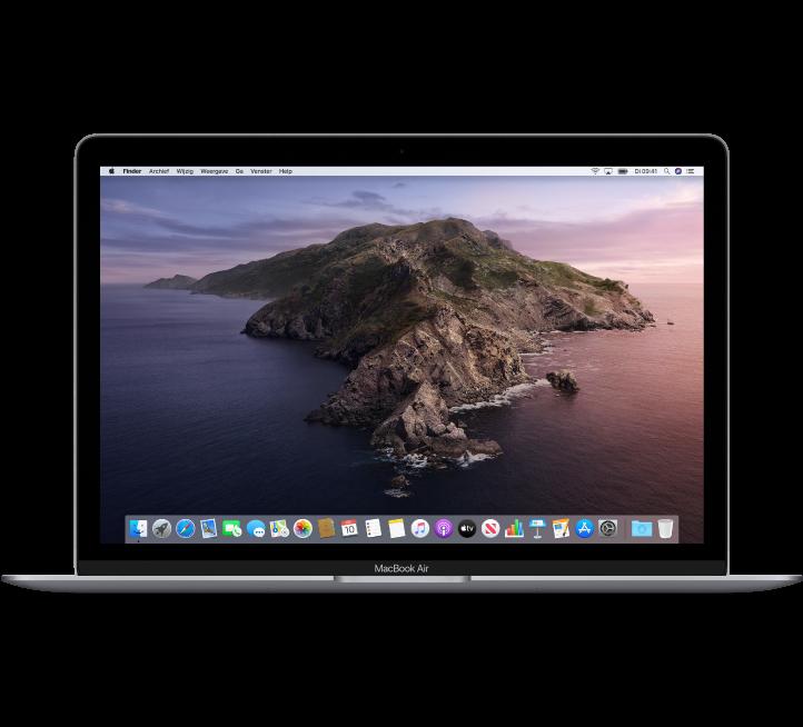 Vooraanzicht van de MacBookAir.
