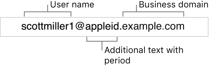 Apple Business Manager Managed Apple ID example