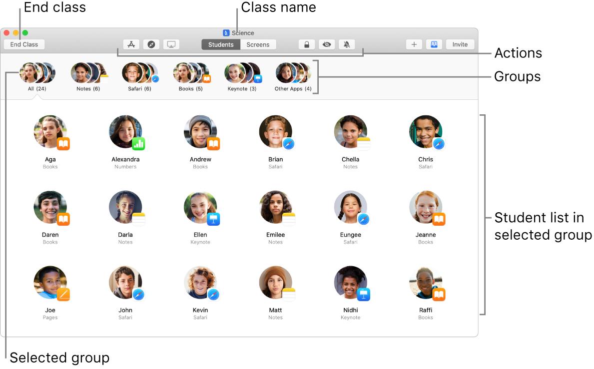 Main Classroom view on Mac.
