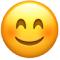 gülen yüz emojisi