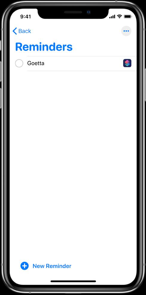 L'app Recordatoris amb la nova drecera de recordatori.