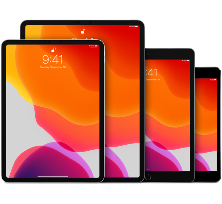 iPadPro (10.5-inch), iPadPro (12.9-inch) (2nd generation), iPad Air (3rd generation), and iPadmini (5th generation)