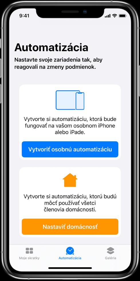 Sekcia Automatizácia vapke Skratky.