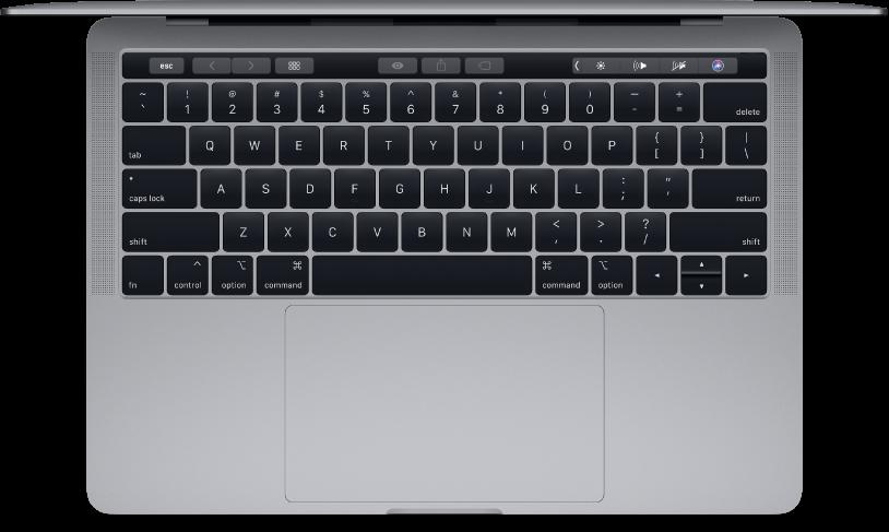 منظر علوي للـMacBookPro ١٣ بوصة.