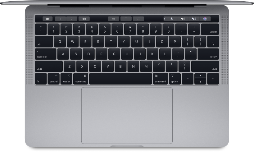 Top view of 13-inch MacBook Pro.