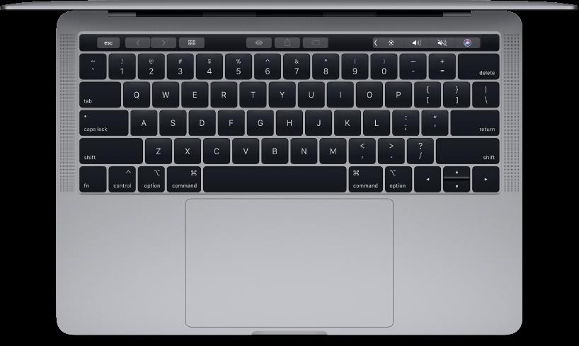 Bovenaanzicht van de 13-inch MacBookPro.