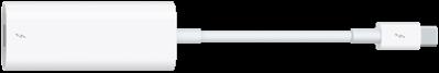 De adapter voor Thunderbolt3 (USB-C) naar Thunderbolt2.
