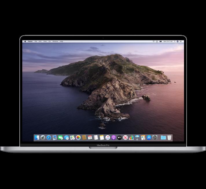 A 16-inch MacBook Pro computer.
