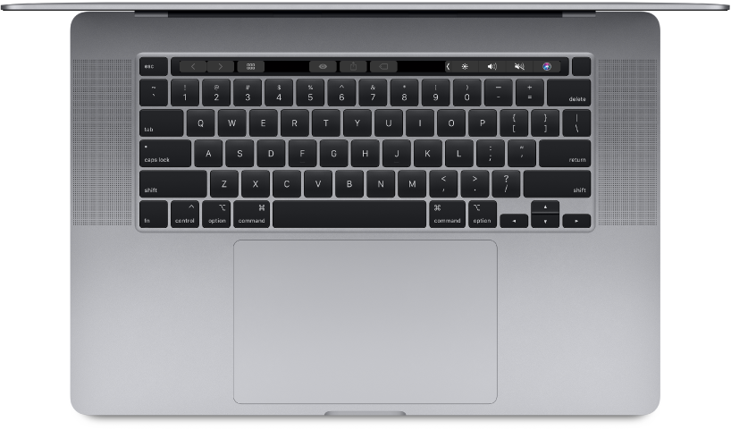 Bovenaanzicht van de 16-inch MacBookPro.