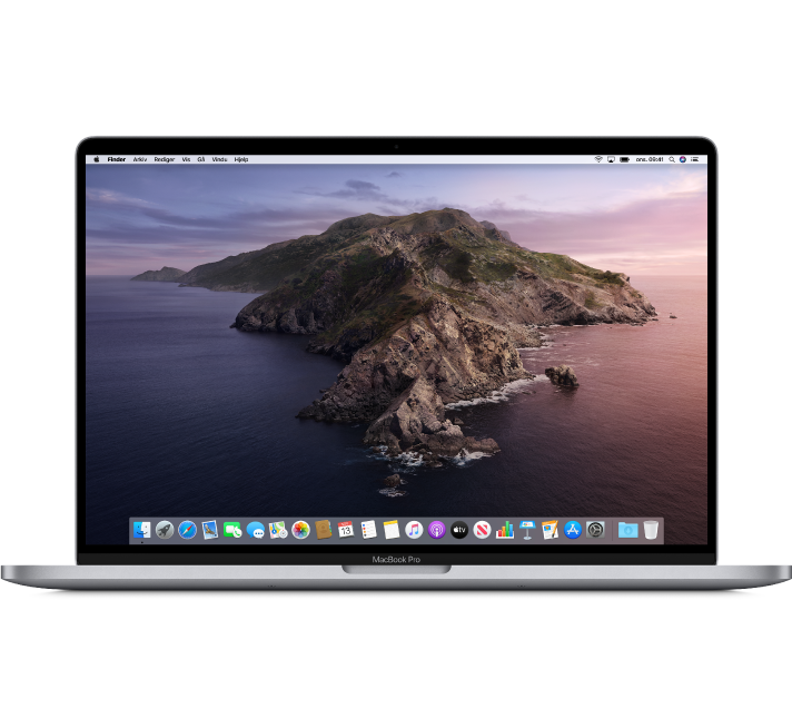 En 16-tommers MacBook Pro-datamaskin.