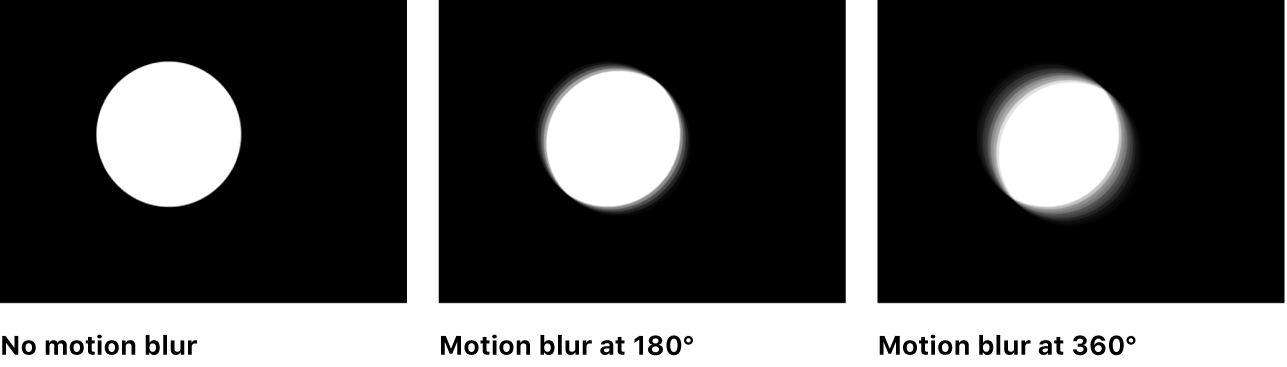 Canvas showing effect of motion blur at mild and strong settings