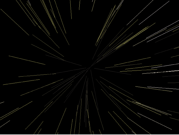 Canvas showing particle system with Show Particle As set to Lines