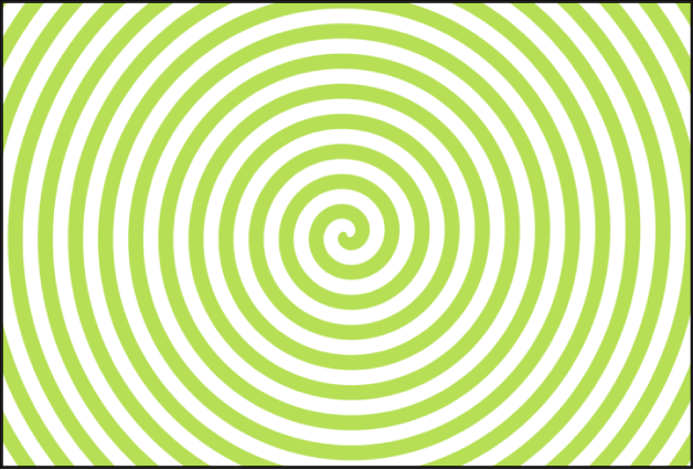 Canvas showing Spirals generator, with Type set to Modern