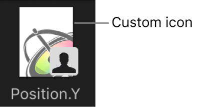 Custom curve icon in Library