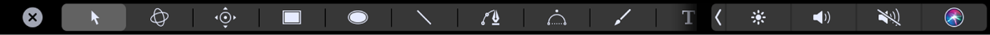 Touch Bar tool options