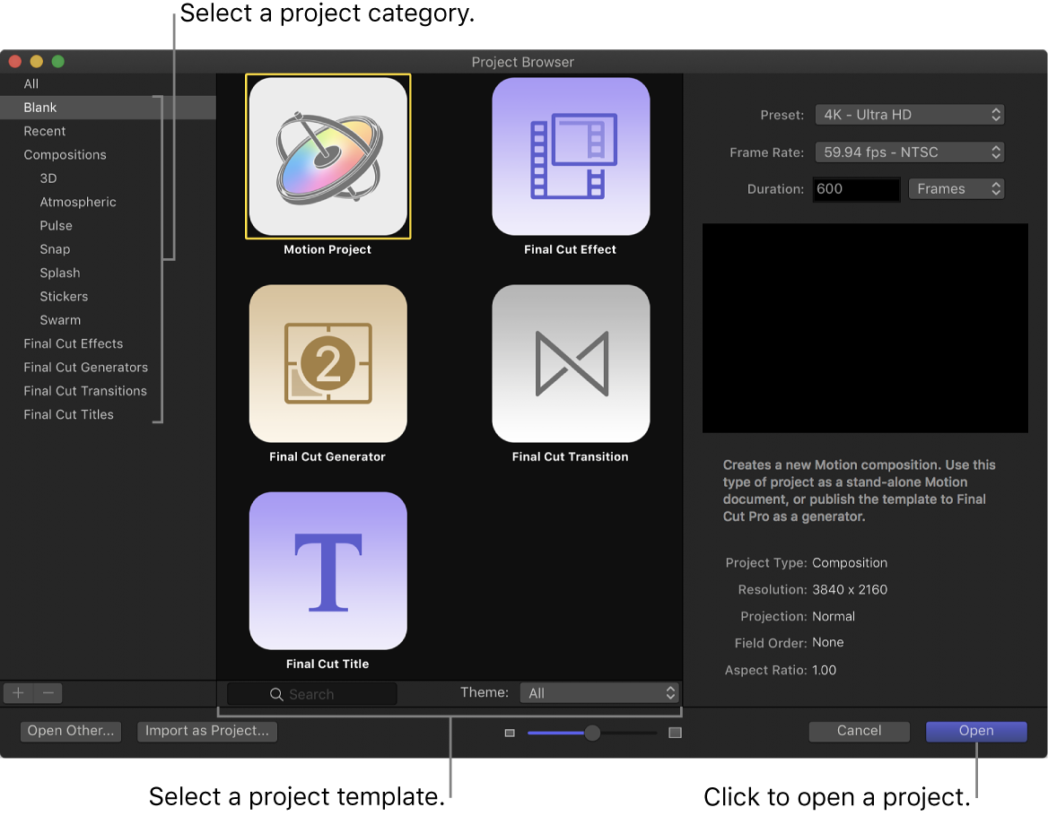 Project Browser